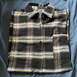 Oversized Flannel - blue/yellow/black/white